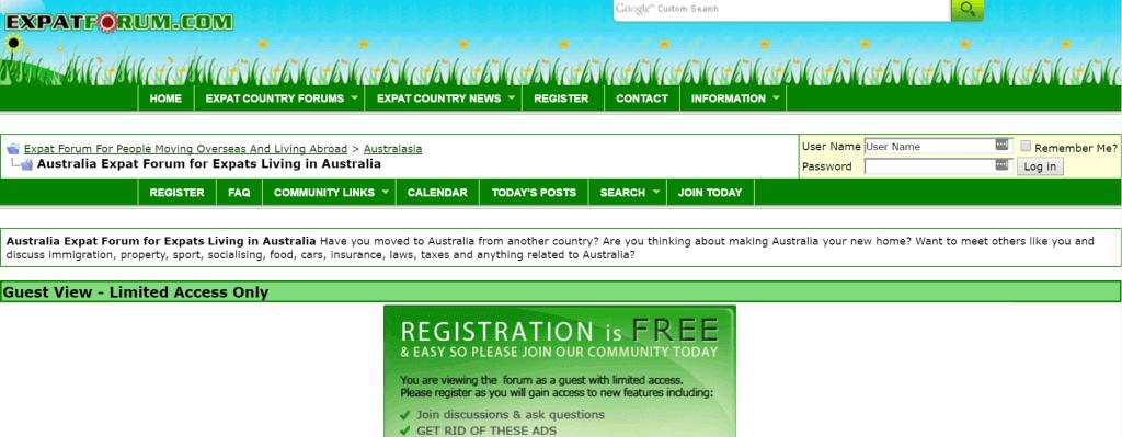 Expat forum australia