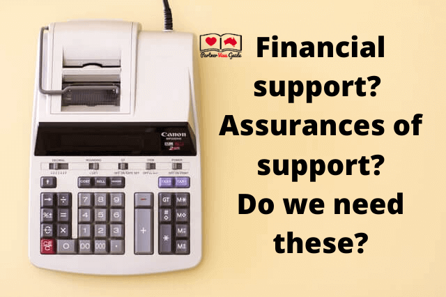 Do I need financial support or assurances of support for partner visa applications?